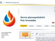 WEBOVÁ STRÁNKA Servis plynospotřebičů Petr Hromádka
