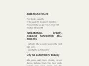 WEBOVÁ STRÁNKA Autodíly Novák