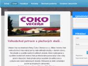 WEBOVÁ STRÁNKA ČOKO Citonice - Milan Večeřa - velkoobchod potravin