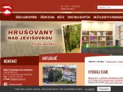 WEBOVÁ STRÁNKA Město Hrušovany nad Jevišovkou