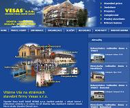 Strona (witryna) internetowa VESAS s.r.o. stavebni firma