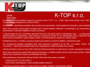 WEBOVÁ STRÁNKA K-TOP, s.r.o.