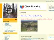 WEBOVÁ STRÁNKA OBEC PLANDRY Obecní úřad