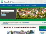 WEBOV� STR�NKA OBEC KAMENN�