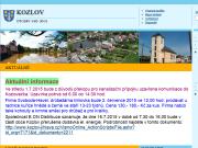 SITO WEB OBEC KOZLOV