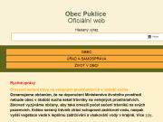 WEBOVÁ STRÁNKA OBEC PUKLICE Obecní úřad