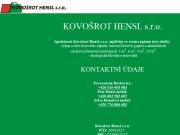 WEBOV� STR�NKA Kovo�rot Hensl s.r.o.
