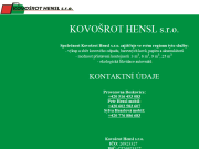 PÁGINA WEB Kovosrot Hensl s.r.o.