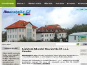 WEBOVÁ STRÁNKA BIOANALYTIKA CZ, s.r.o.