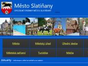 WEBOVÁ STRÁNKA M�stsk� ��ad Slati�any