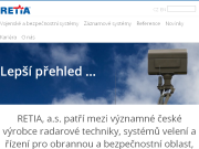 WEBOVÁ STRÁNKA RETIA, a.s.
