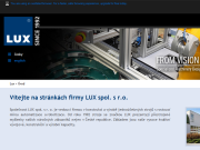 WEBOVÁ STRÁNKA LUX spol. s r.o.