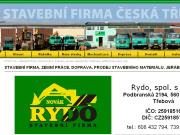 WEBOVÁ STRÁNKA RYDO, spol. s.r.o.