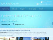 WEBOV� STR�NKA Poh�ebn� slu�ba �st� nad Orlic� Libor Sou�ek A + A KASPO s. r. o.