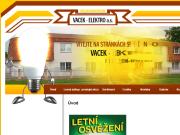 SITO WEB VACEK - ELEKTRO, a.s.