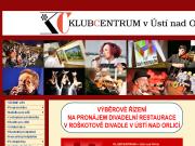 WEBOVÁ STRÁNKA KLUBCENTRUM v Ústí nad Orlicí