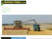 WEBOVÁ STRÁNKA Rovina Písek a.s.