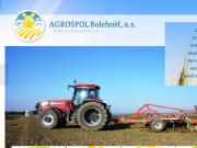 WEBOVÁ STRÁNKA AGROSPOL Bolehošť, a.s.