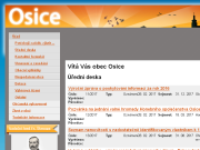 WEBOVÁ STRÁNKA Obec Osice