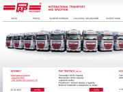 WEBOVÁ STRÁNKA PAP TRUTNOV, s.r.o. Mezinárodní silniční doprava