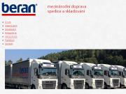WEBOVÁ STRÁNKA BERAN JIŘÍ s.r.o. Mezinárodní kamionová autodoprava