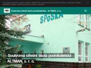 SITO WEB Soukroma stredni skola podnikatelska - ALTMAN, s.r.o.