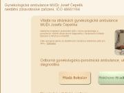 SITO WEB MUDr. Josef Cepelik - gynekologicka ambulance
