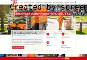 WEBOVÁ STRÁNKA Technické služby Kutná Hora, spol. s r.o.