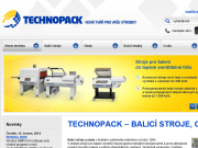 WEBOVÁ STRÁNKA TECHNOPACK s.r.o. balicí, páskovací a ovinovací stroje