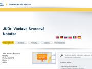 SITO WEB JUDr. Vaclava Svarcova Notarka