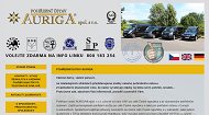 WEBSEITE Pohrebni ustav AURIGA  spol. s r.o. Mezinarodni prevozy, pohrby, kremace