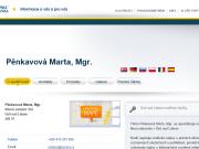 WEBOVÁ STRÁNKA Pěnkavová Marta, Mgr.
