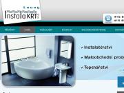 Strona (witryna) internetowa Instala KRT s.r.o. Voda, topeni, plyn, kanalizace Louny