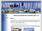WEBOVÁ STRÁNKA STAVUM, spol. s r.o.