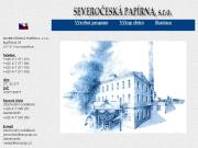 WEBSITE SEVEROCESKA PAPIRNA, s. r.o. Vyroba a prodej sede strojni lepenky