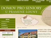 SITO WEB Domov pro seniory U Pramene Louny, prispevkova organizace