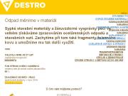 WEBOVÁ STRÁNKA Miroslav Karas DESTRO Prodej sypkých stavebních materiálů