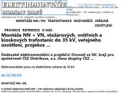 SITO WEB Miloslav Kalcu - Elektromontaze