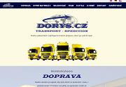 WEBOVÁ STRÁNKA DORYS CZ, s.r.o. Transport - Spedition