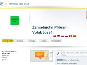 WEBOVÁ STRÁNKA Zahradnictví Příbram Volák Josef