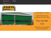 WEBSITE FORTE Beroun spol. s r.o. Vyroba zakazkovych vrat Sperol