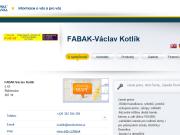 WEBOVÁ STRÁNKA FABAK-Václav Kotlík