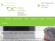WEBOVÁ STRÁNKA Oční optika Koubová Regina, Písek