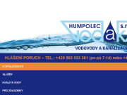 WEBOVÁ STRÁNKA VODAK Humpolec, s.r.o.