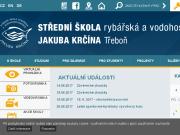 SITO WEB Stredni skola rybarska a vodohospodarska Jakuba Krcina, Trebon, Taboritska 941