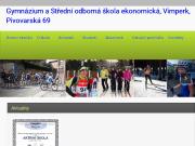 WEBOVÁ STRÁNKA Gymnázium a Střední odborná škola ekonomická, Vimperk