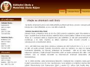 SITO WEB Zakladni skola a Materska skola Kajov