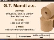 WEBOVÁ STRÁNKA G.T.MANDL, a.s.