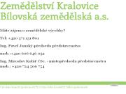 SITO WEB Bilovska zemedelska a.s.