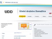 WEBOVÁ STRÁNKA Účetní družstvo Domažlice